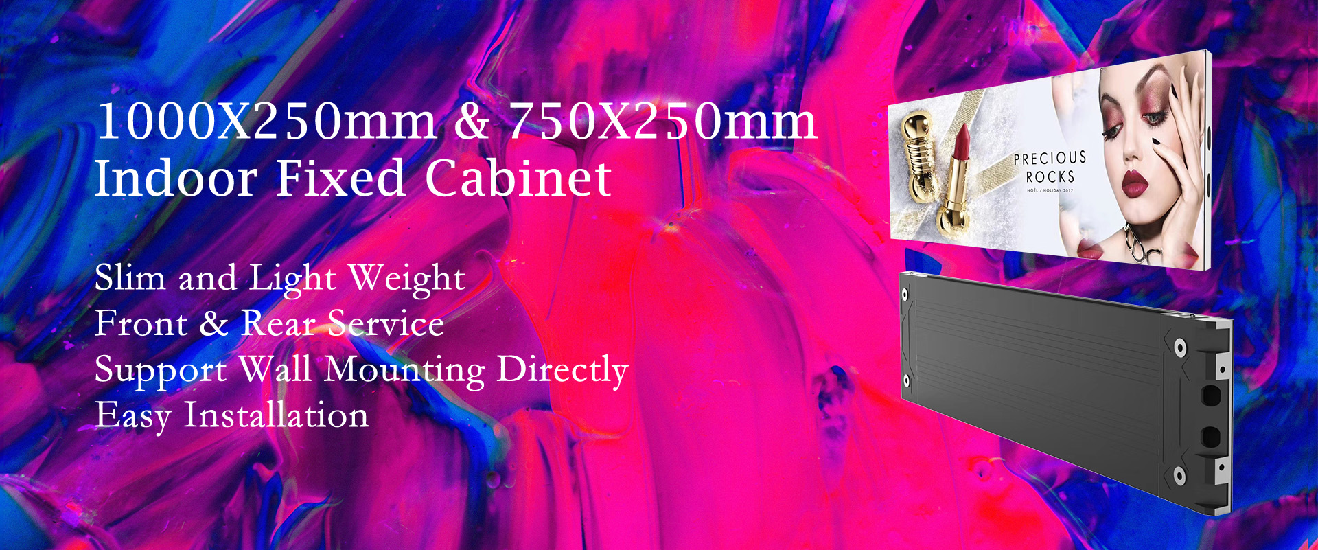 LSF Series Indoor Fixed Slim Front Service LED Display